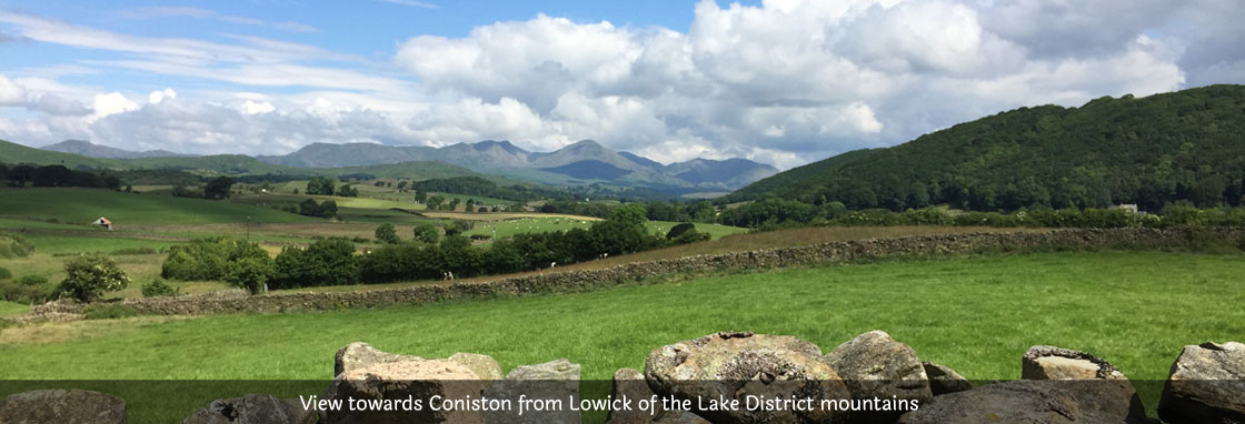 View from Lowick to Coniston Old Man
